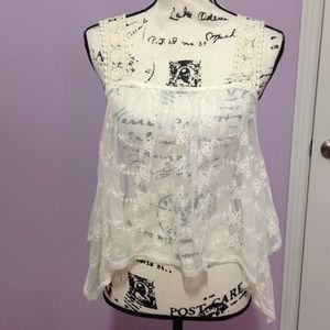 Lovely Sheer Lace Tank